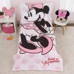 ディズニー ミニーマウス ボディ子供 寝具 4点 セット トドラーベッディング 子ども用 ベッドカバー 掛布団 シーツ 枕カバー