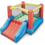 リトルタイクス ジュニア ジャンプ スライダー バウンサー トランポリン 大型遊具 滑り台 ジャンプ 膨らませる 家庭用 エアー遊具