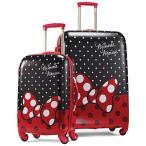 8月下旬入荷予約販売/ サムソナイト アメリカンツーリスター ミニーマウス スーツケース 53cm 71cm スピナー 2個セット ディズニー キャリーバッグ