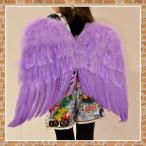 コスチューム フェザー ウィング パープル エンジェル 天使 羽 翼 衣装 コスチューム 子供用 大人 (DM便不可)