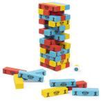 ジェンガ パウ・パトロール 積み木 木製 ジェンガゲーム バランスゲーム ドミノブロック テーブルゲーム おもちゃ 48PCS サイコロ付き