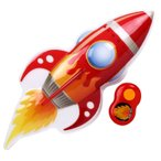 年末セール2017/ サウンド付き ルームライト リモコン付き ビッグ レッド ロケット 2343