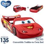 Online ONLY(海外取寄)/ デルタ カーズ コンバーチブル トドラー ツイン ベッド おもちゃ箱付 子供ベッド 車型 /配送区分C