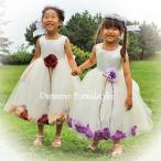 子供 ドレス フォーマル 女の子 100-160cm レッド パープル アシュリー