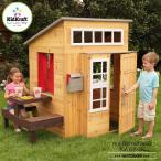 Online ONLY(海外取寄)/ プレイハウス 木製 大きな家 モダン アウトドア プレイハウス 大型遊具 庭 屋外 室外 KidKraft  /配送区分:超大型