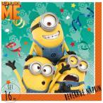 ミニオン ペーパーナプキン 16枚 紙ナプキン パーティー用品 誕生日 飾り付け デコレーション (DM便対応)
