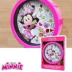 Disney Junior Minnie Mouse 6 Inch Tabletop or Wall Dual Clock