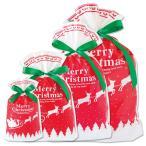 クリスマス ラッピング【同封にてお届け】ギフト ラッピング キッズ ラッピングバッグ 袋 リボン付き