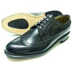 British Classic 本革底 ウィングチップ ビジネスシューズ(革靴 紳士靴)黒/グッドイヤーウェルト製法・日本製