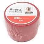 Finoa(フィノア) NO.1653 カラーテーピング 38mm サッカーストッキング テープ レッド