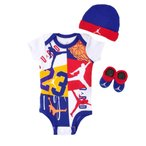 JORDAN(ジョーダン) NJ0320 ジャンプマン ベビー服 ロンパース 3点セット プレゼント ギフト 0-6ヵ月