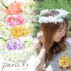 Other - 花かんむり 花冠 結婚式 造花 フェス ウェディング ヘッドドレス 安い 髪飾り フラワー かわいい おしゃれ パリスキッズ