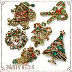 Premium paris クリスマス モチーフ ブローチ