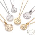 ネックレス コイン メダイ メダル シンプル モチーフ ゴールド シルバー レディース Luxury's ラグリーズ j3s