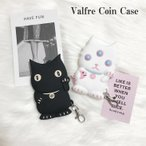 LA発 Valfre ヴァルフェー シリコン キーケース コインケース 黒猫 白猫 LUCKY BRUNO BLANCO
