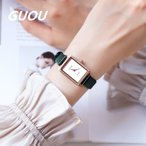 GUOU 腕時計 時計 レディース 女性用 ウォッチ アクセサリー ラッピング無料 シルバー ブレスレット 丸い  ラインストーン 長方形 66635
