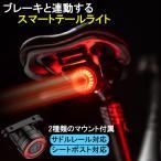 ライト テールライト 自転車 自動点灯 セーフティー 夜間走行 取付け簡単 サドル レールポスト シートポスト USB