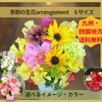 花 季節のお花のアレンジメント プレゼント 開店祝い 九州・四国送料無料 御供 おしゃれ カラフル 無料メッセージカード 女性 記念日