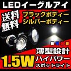 LED スポットライト イーグルアイ 薄型モデル デイライト ホワイト/ブルー ハイパワー1.5W ボルト型 防水 2個セット 送料無料