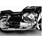 サンダーヘッダー マフラー スポーツスター 86-03クローム 1011 ( ハーレー マフラー パーツ 部品 )