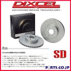 95〜01 フォード エキスプローラー 4.0 (1FMXS/1FMXU24/1FMXU34/1FMXSU34) ブレーキディスクローター ディクセル SDタイプ フロント用 [SD2016554] [ノベルティ]