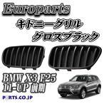 Europarts(ユーロパーツ) キドニーグリル BMW X3 F25 11-UP グロスブラック