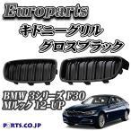 Europarts(ユーロパーツ) キドニーグリル BMW 3シリーズ F30 Mルック 12-UP グロスブラック