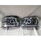 ハイエース 200系 1型2型 LEDイカリング プロジェクター ヘッドライト クリスタル