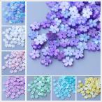 デコパーツ 76.シェル風さくらパーツ 10個売り 8色 桜 さくら アクリル シェルパーツ 刺繍 ハンドメイド sakura
