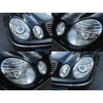 ベンツ 後期ルック メッキ ヘッドライトリング W211E320E350E500E550E55E63AMGブラバスロリンザー ヘッド ランプ リム 07yルック