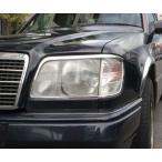 ベンツ メッキ ヘッドライトリングW124 E220E280E300E320E400E500AMGブラバスロリンザーカールソン Eクラス ヘッドランプ ガーニッシュ リム
