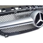 ベンツ A45 AMGルックグリル フロントグリル シルバーフィンxメッシュBK W176 A180 A250 Aクラス
