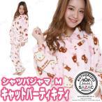 SAZAC(サザック) キャットパーティキティシャツパジャマ ピンク M レディース ファッション 女性用 ルームウェア 部屋着 寝巻き 寝間着 キャ