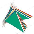 Yahoo!パーティワールドターポリン三角旗 店舗装飾品 飾り デコレーション ディスプレイ POP 販促品 スポーツ 運動会用品 万国旗