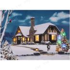 クリスマスパーティー パーティーグッズ 雑貨 装飾 ライティングピクチャー ハウス