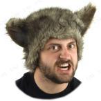 ウルフキャップ(狼男)パーティーグッズイベント用品プチ仮装変装グッズコスプレハロウィン帽子ぼうしかぶりもの動物アニマル