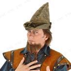 ロビンフッド帽子モスグリーンハロウィン衣装プチ仮装変装グッズコスプレパーティーグッズぼうしキャップかぶりもの童話おとぎ話