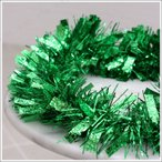 あすつく クリスマス ツリー オーナメント Patymo 200cmパーティーモール(ドット型押し/グリーン) パーティーグッズ パーティー用品 イベ