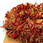 あすつく クリスマス ツリー オーナメント Patymo 200cmパーティーモール(2色カラー/レッド&ゴールド) パーティーグッズ パーティー用品