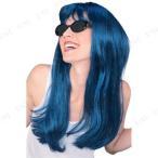 グラマーウィッグ(青緑/ブラック) ハロウィン 仮装 衣装 変装グッズ パーティーグッズ 髪 コスプレかつら カツラ コスプレヘアー
