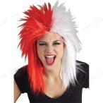 SALE  スポーツウィッグ(レッド/ホワイト) ハロウィン 衣装 プチ仮装 変装グッズ コスプレ パーティーグッズ かつら カツラ 髪の毛 かぶり