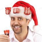 ショッピング帽子 サンタハット ウィズ 3ショットグラス 仮装 かぶり もの おもしろ クリスマス コスプレ サンタ 変装グッズ