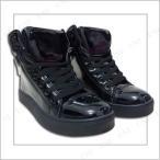 取寄品 コスプレ 仮装 ハロウィン 衣装 プチ仮装 靴 エナメルスニーカー 黒 26.5cm