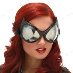 コスプレ 仮装 衣装 ハロウィン 眼鏡 おもしろメガネ(キャットアイゴーグル/ブラック)