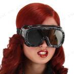 おもしろメガネ(パイロットゴーグル/ブラック)ハロウィン衣装プチ仮装変装グッズコスプレパーティーグッズめがね眼鏡面白い