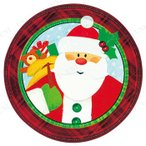 """PG7""""プレート クラフィティークリスマス 17.5cm 8枚入 クリスマスパーティー パーティーグッズ 雑貨 クリスマス飾り 装飾 デコレーション"""