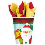 取寄品  PGカップ クラフティークリスマス 8個入り クリスマスパーティー パーティーグッズ 雑貨 クリスマス飾り 装飾 デコレーション テーブル