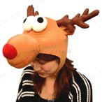 Patymo アニマルハット トナカイ 仮装 クリスマス コスプレ かぶりもの アニマル 帽子 トナカイ 変装グッズ