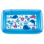 四角プール 100×60cm マリンブルー キッズプール ビニールプール 小さい 子供用 四角 プール用品 海水浴