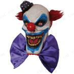 口裂けデビルクラウンマスクパーティーグッズイベント用品プチ仮装変装グッズコスプレハロウィンかぶりものホラーマスクピエロマスク悪魔